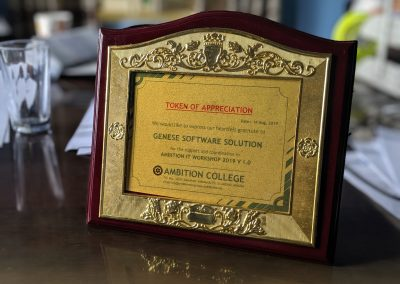 Token Of Love received at Ambition College