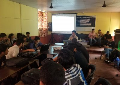 Sundar Shrestha Presenting to the Students