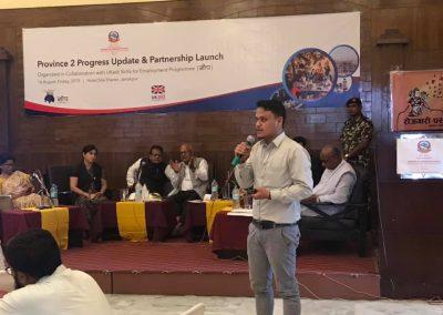 Niranjan Udas presenting at Janakpur