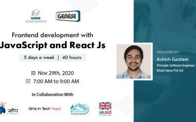 Front End Development using JavaScript and ReactJS
